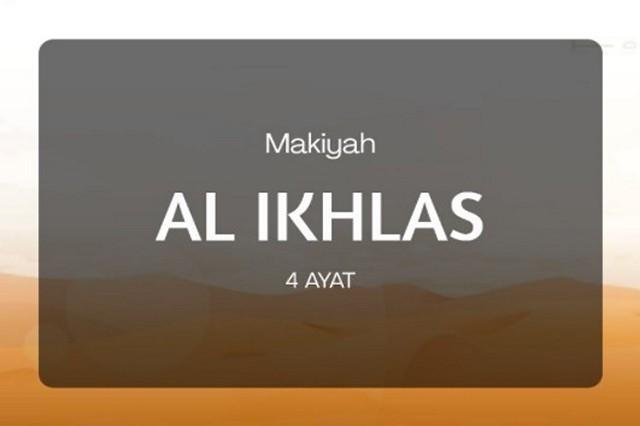 Inilah 5 Keutamaan Surat Al-Ikhlash